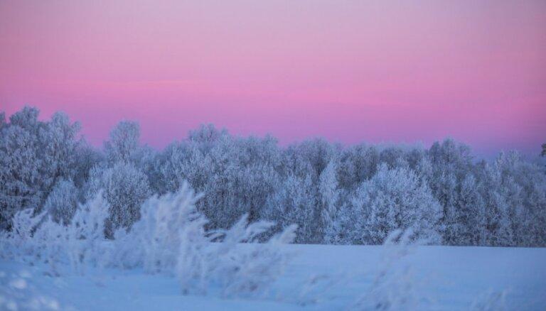Foto: Kā ziema izgreznojusi Veselavu