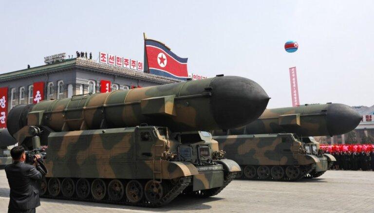 Ziemeļkorejas atteikšanās no kodolieročiem ir maz ticama, atzīst ASV izlūkdienesti