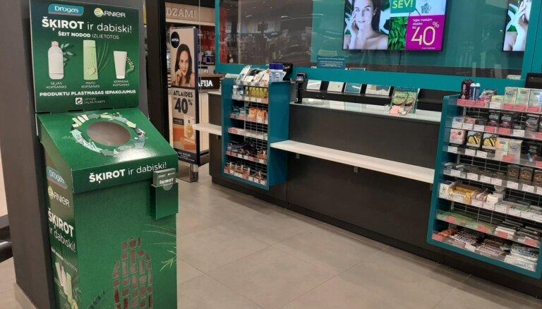 Veikalos 'Drogas' varēs nodot pārstrādei plastmasas iepakojumus