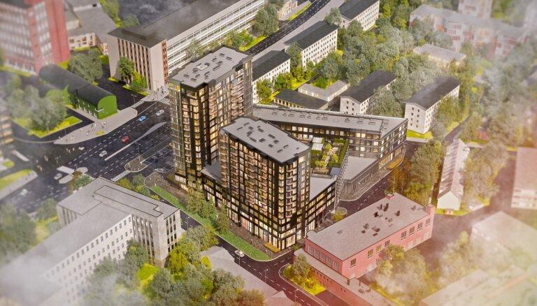 ФОТО: В Таллине строится жилой комплекс с зеленым садом на крышах
