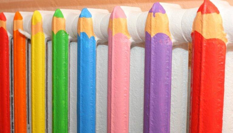 Krāsaini radiatori – ideja interjera atsvaidzināšanai