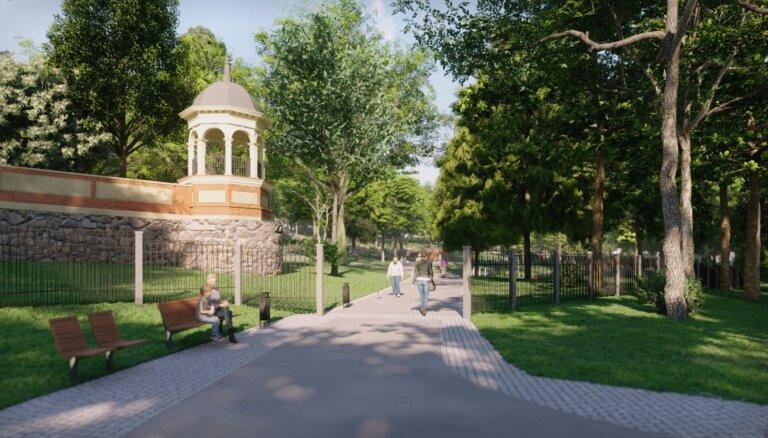 Aldara parkā sāk būvēt dārznieka māju un saimniecības zonu, cirtīs arī kokus