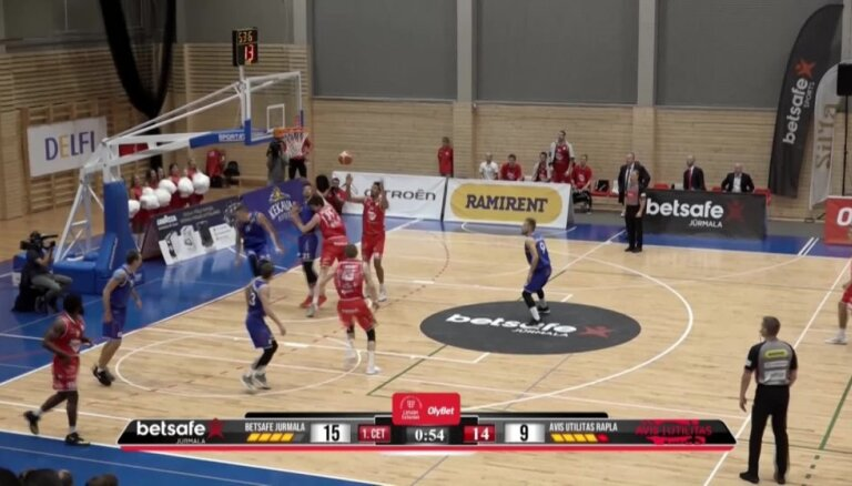 'OlyBet' basketbola līga: 'Betsafe/Jūrmala' - Raplas 'Avis Utilitas'. Spēles labākie momenti (10.11.2018.)
