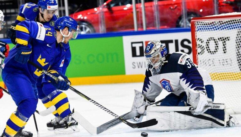 Zviedrijas izlase pārspēj Franciju un izcīna otro 'sauso' uzvaru šajā pasaules čempionātā