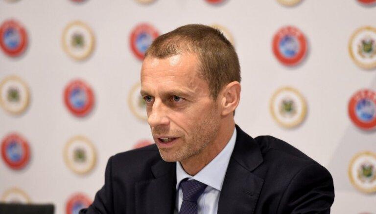 Čeferins pārvēlēts UEFA prezidenta amatā