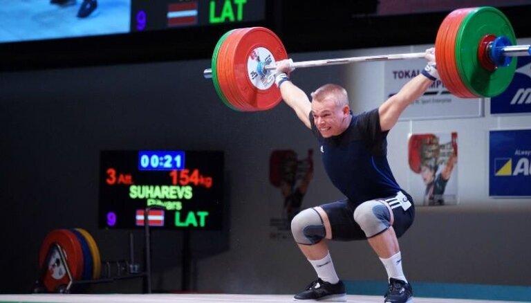 Ritvaram Suharevam pietrūkst viena kilograma līdz Eiropas junioru čempiona titulam svarcelšanā