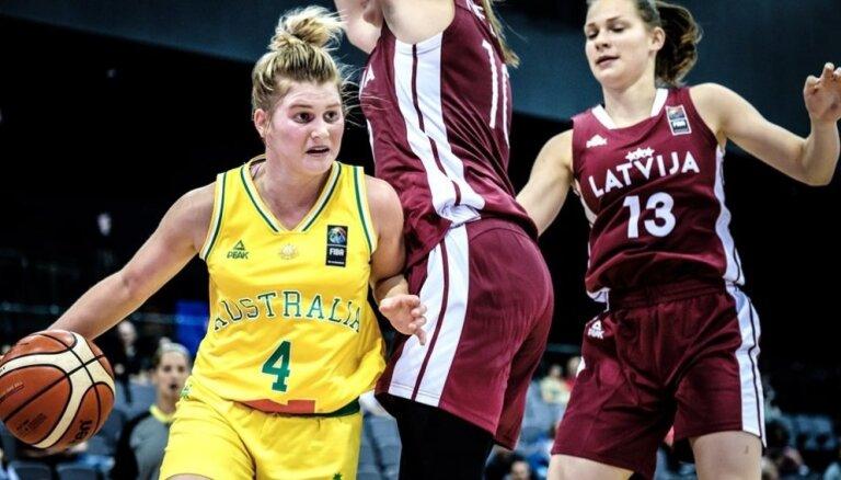 Latvijas U-17 meiteņu izlase piedzīvo zaudējumu Pasaules kausa finālturnīra spēlē pret Austrāliju