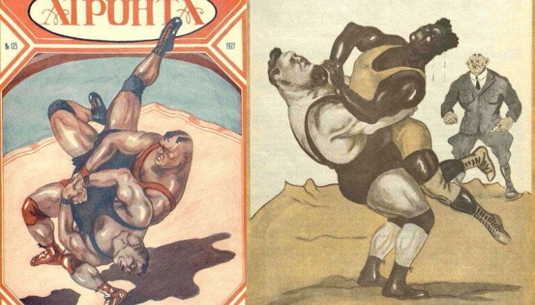 Latvijas sporta vēsture: Pirms 92 gadiem Rīga pulcē Eiropas spēcīgākos cīkstoņus
