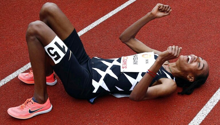 Hasana labo pasaules rekordu 10 000 metru skrējienā