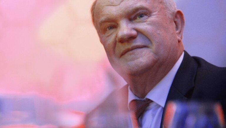 Zjuganovs paziņo par kandidēšanu uz Krievijas prezidenta amatu
