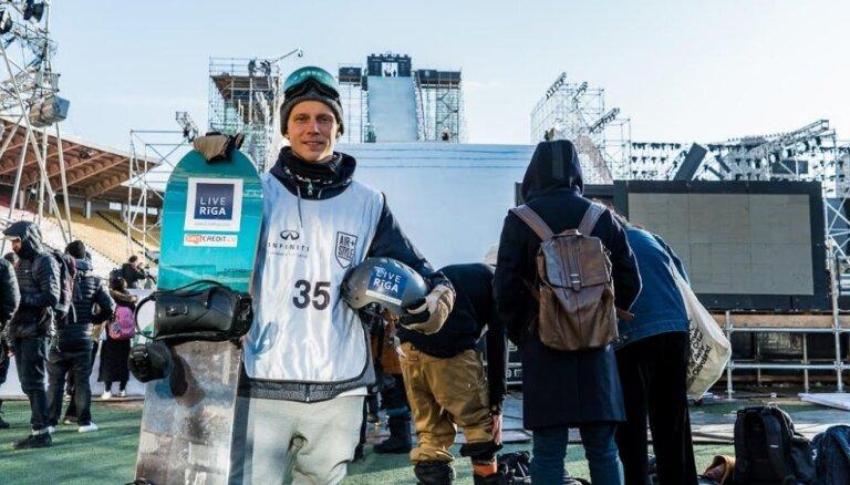 Snovbordists Petrusevičs izcīna 24. vietu pirmajā Pasaules kausa posmā 'Big Air' disciplīnā