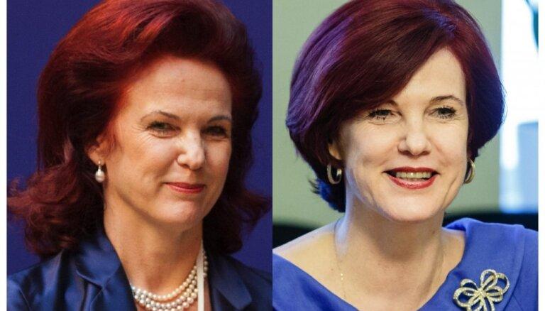 Glaimo sejas ovālam un padara jaunāku: eksperti slavē Āboltiņas frizūru