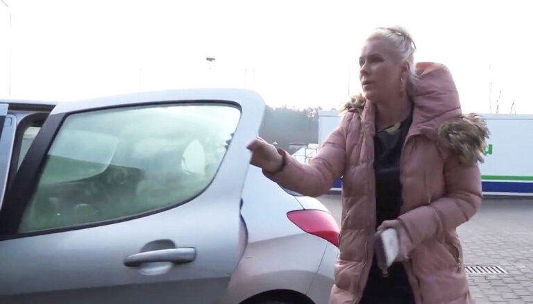 Liene Šomase braukā bez OCTA un melš par sodos maksātajām summām