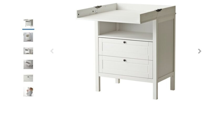 IKEA предупреждает латвийцев: если не сделать все по инструкции, пеленальный стол может нести опасность