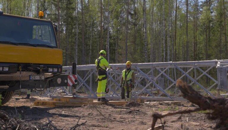 Pacelti pirmie jaunās elektrolīnijas 'Igaunijas – Latvijas 3. starpsavienojums' balsti
