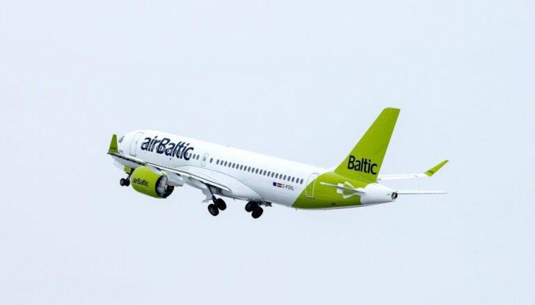 'airBaltic' zaudējumi sarukuši trīs reizes – līdz 61,5 miljoniem eiro