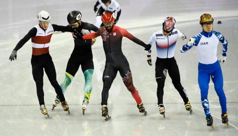 Foto: Pirmie Latvijas sportisti aizvada olimpiskā sacensības Phjončhanā