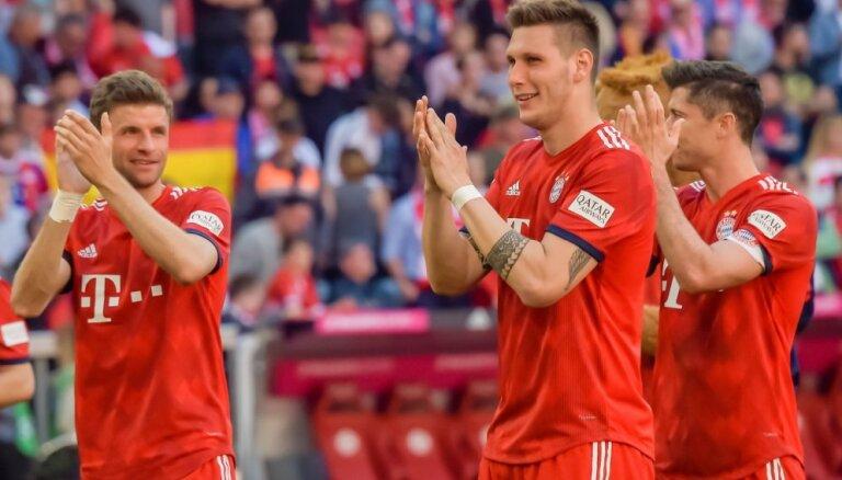 Minhenes 'Bayern' nostiprinās bundeslīgas kopvērtējuma galvgalī