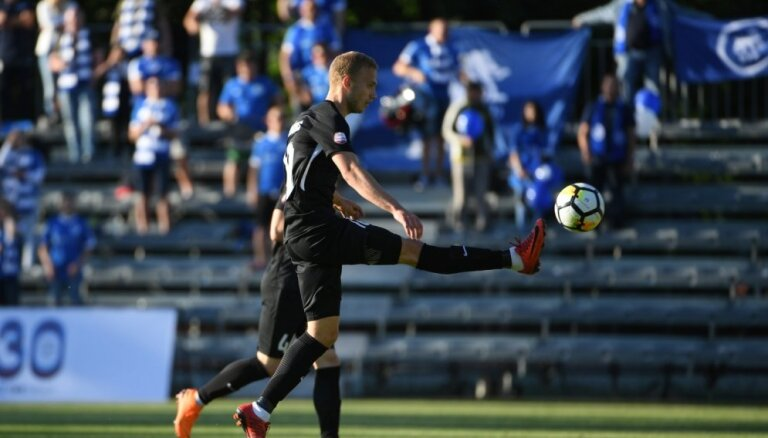 RFS futbolisti svin uzvaru pār komandu 'Jelgava'