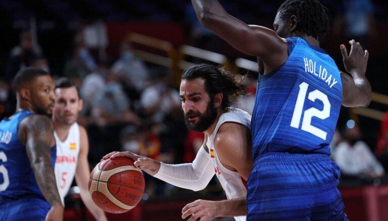 Tokijas olimpiskās spēles: Spānijas leģendu pēdējā iespēja pieveikt ASV. Teksta tiešraide