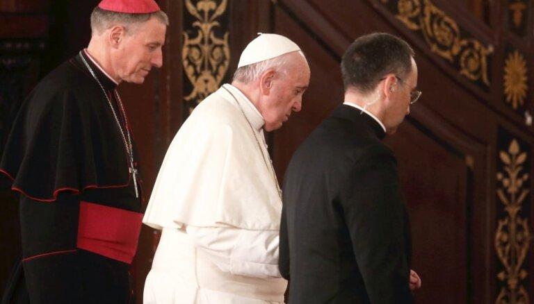 Foto: Pāvests Francisks seniorus aicina nepadoties un nezaudēt cerību