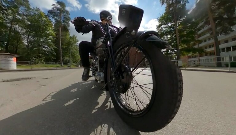Timrots iepazīst 30. gadu motociklu, kas savulaik maksājis 50 govis