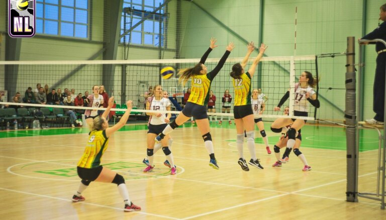 'Jelgava' izvirzījusies vadībā LČ volejbolā dāmām