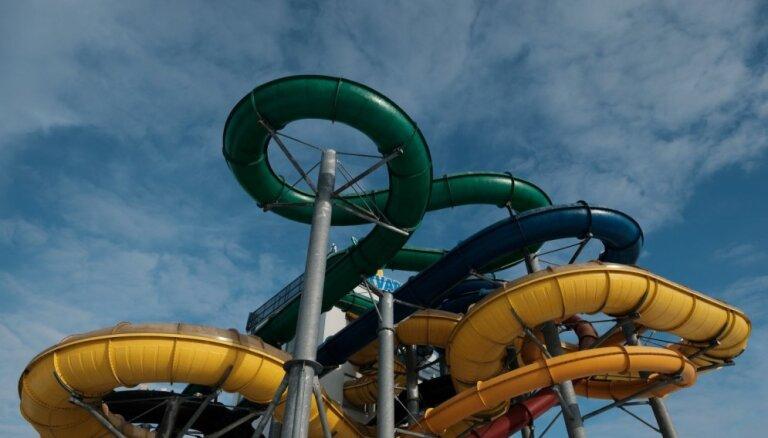 В Līvu akvaparks появилась 200-метровая трасса для водного скелетона
