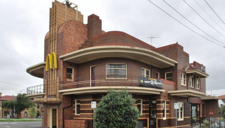 Arhitektūras entuziasti saķer galvu un apēd burgeru jeb 'McDonald's' restorāni brīnišķīgās un vēsturiskās ēkās