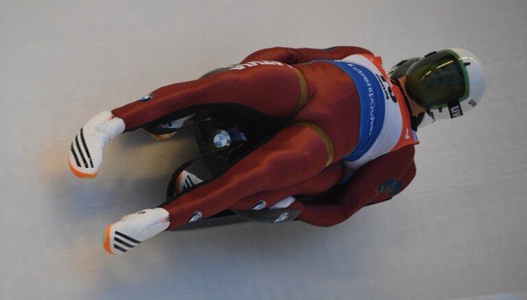 Kamaniņu divniekam Putinam/Marcinkēvičam rekordaugstā ceturtā vieta Pasaules kausa posmā