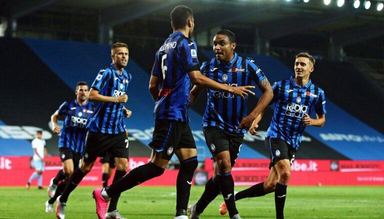 'Atalanta' pārtrauc 'Lazio' 21 nezaudētas spēles sēriju