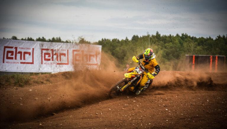 Latvijas čempionāta ceturtajā posmā motokrosā triumfē 'MX Moduls'