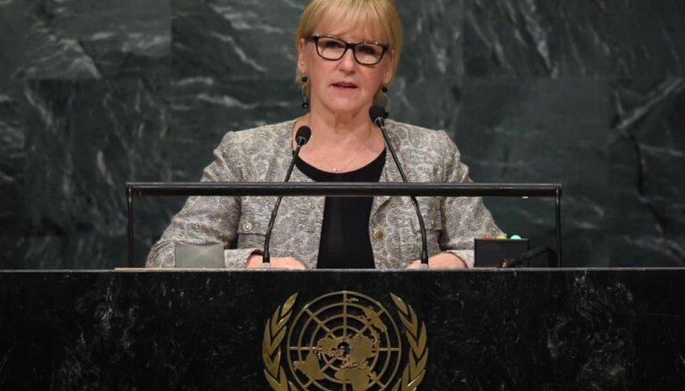 Zviedrijas ārlietu ministre nespējot britiem piedot 'Brexit'