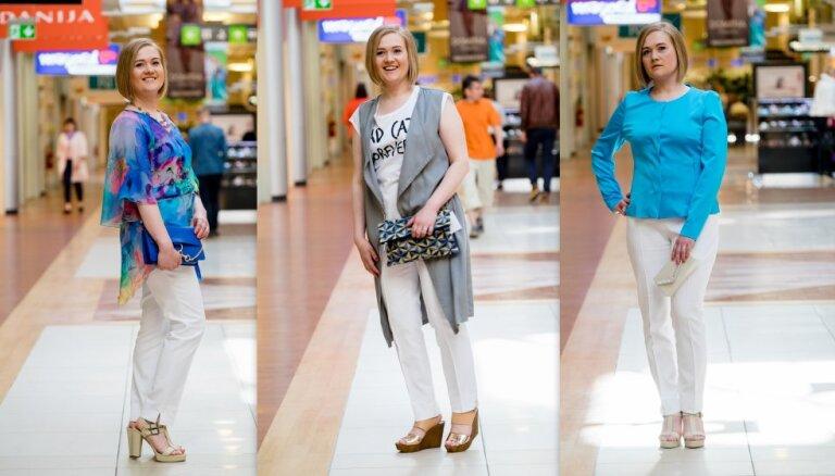 Stilistes padomi: baltais bikšu pāris trīs dzīves gadījumiem