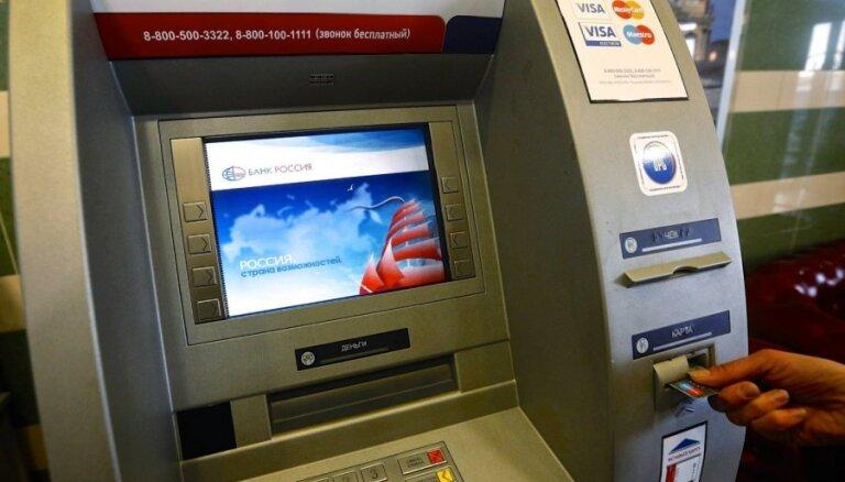 Krievija biedē ar 'Visa' un 'MasterCard' karšu bloķēšanu