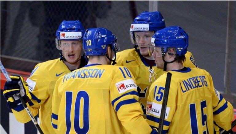 Zviedrija, parādot neizteiksmīgu sniegumu, uzvar Slovēniju