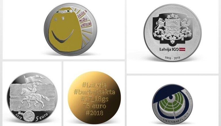 Seši pretendenti – meklē 2018. gada izcilāko kolekcijas monētu