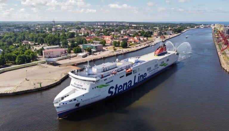 ФОТО: В порт Вентспилса зашел новый паром Stena Line