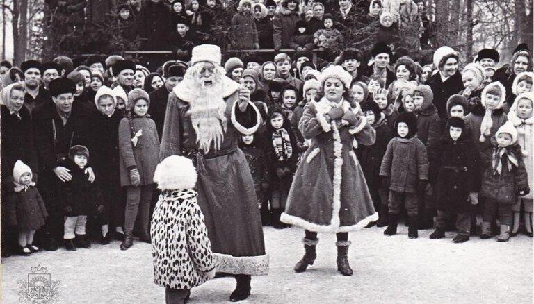 Arhīva foto: Kā Jauno gadu ar Salatēvu un Sniegbaltīti sagaidīja pirms 50 gadiem