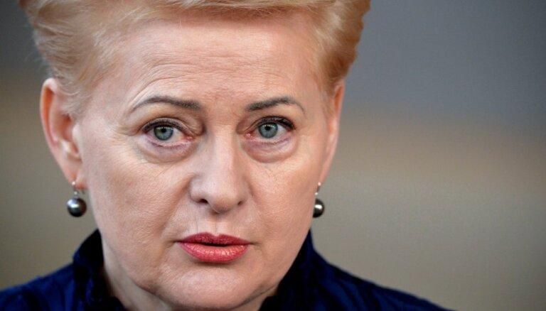 Грибаускайте: своими словами о Латвии премьер опозорил нас перед всем миром
