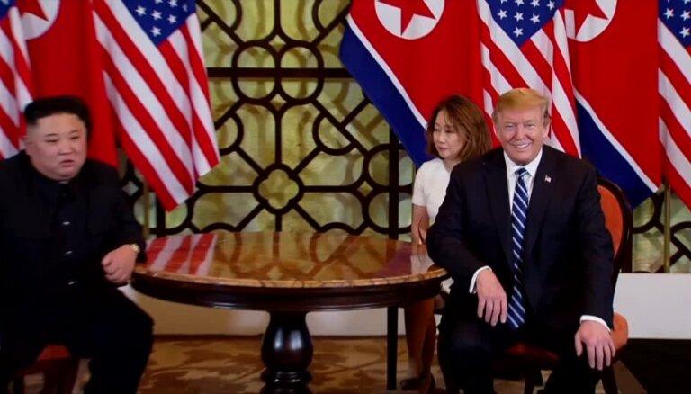 Trampa un Kima tikšanās beidzas bez vienošanās