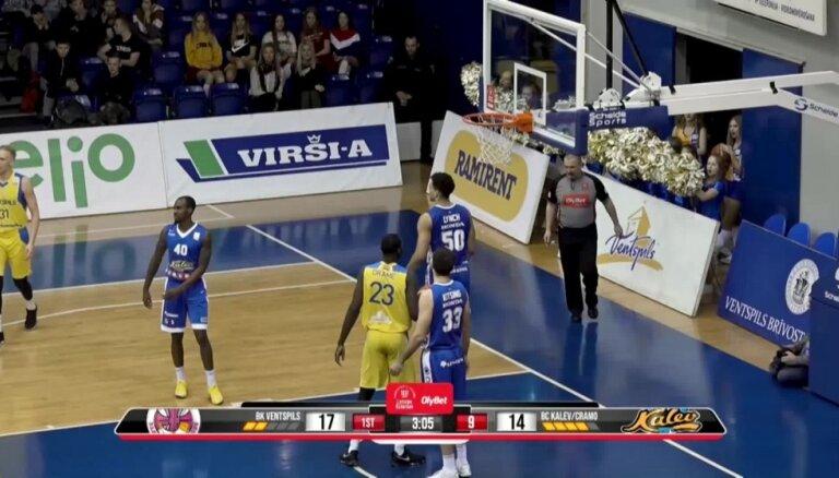 'Ventspils' izcīna pirmo vietu 'OlyBet' basketbola līgas regulārajā čempionātā