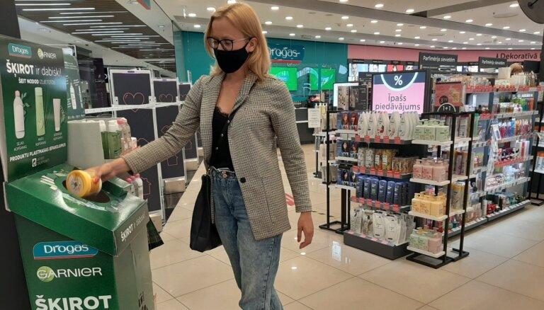 Divpadsmit 'Drogas' veikalos var nodot pārstrādei plastmasas iepakojumus