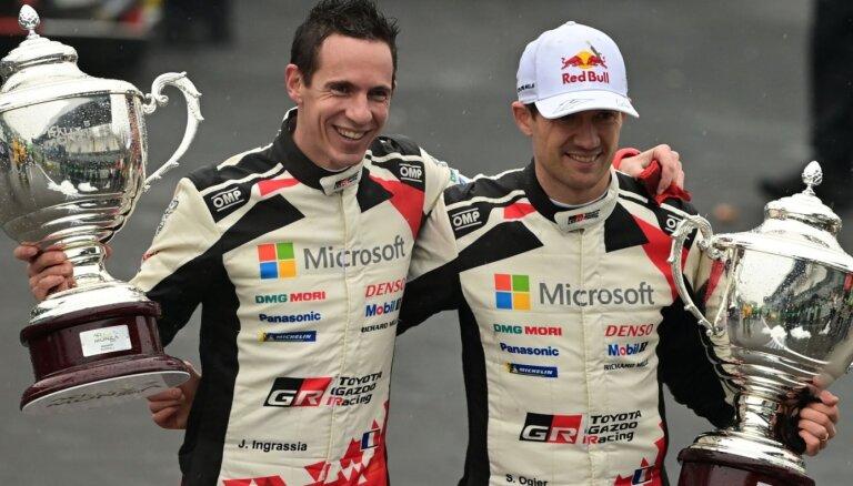 Ožjērs septīto reizi karjerā tiek kronēts par WRC čempionu