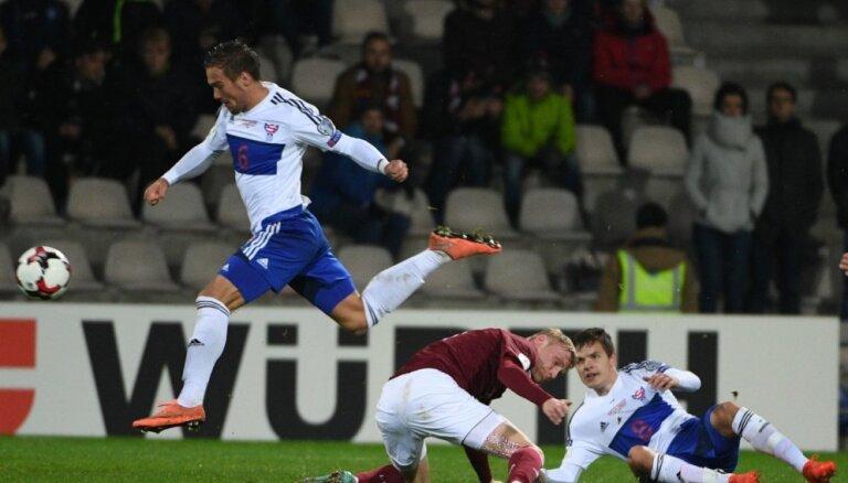 Латвия уступает Фарерам и опускается до аутсайдеров европейского футбола