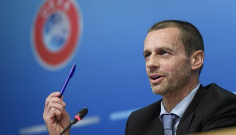 UEFA prezidents Čeferins cer drīzumā tikties ar Ļašenko