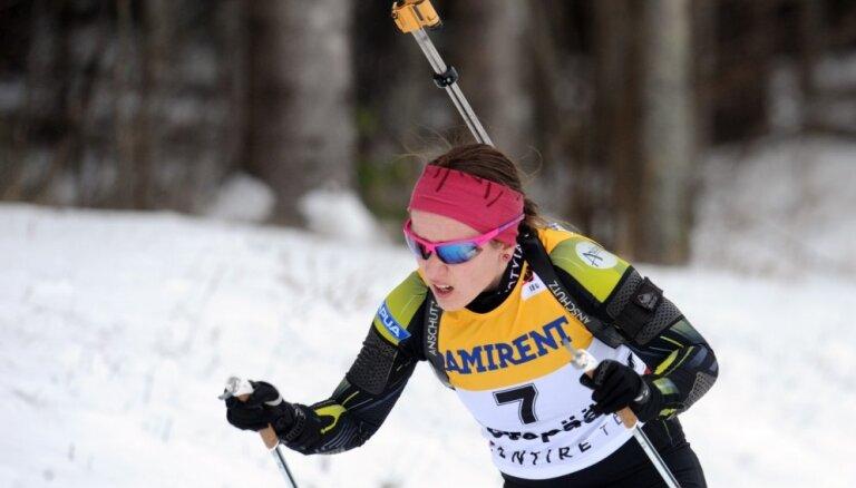 У латвийской биатлонистки— новый карьерный рекорд в Кубке мира