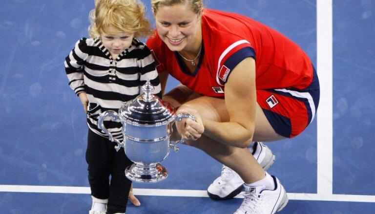 Titulētā Klijstersa gatavojas atgriezties profesionālajā tenisā