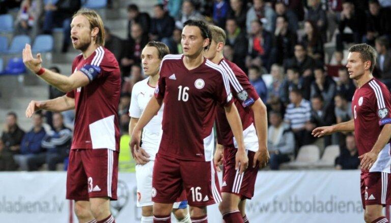 Латвия начинает 2016 год во второй сотне рейтинга ФИФА