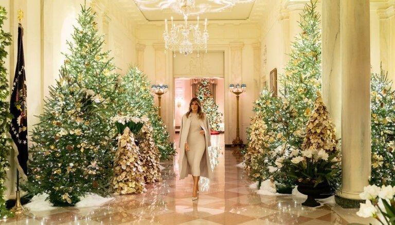 ФОТО, ВИДЕО: Мелания Трамп украсила Белый дом к Рождеству